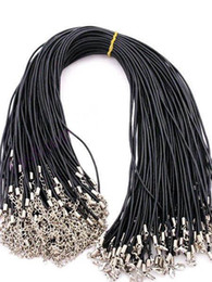 Wholesale Fashion Pc quot MM quot Black Leather Necklace Good Quality Necklace Cords Fittings