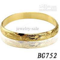 Wholesale Fashion Bridal jewelty k solid gold Plated Bracelet Cuff Bangle never fade BG752 Brand new