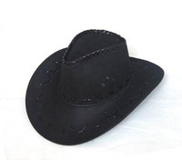 Wholesale Cowboy Hats Caps Leather Hat Western Felt Hats Cap Black Coffee Pink Red Grey Color Mix