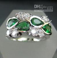 Band Rings tanzanite ring - womens ring ct clear tanzanite emerald green gemstone eye gem ring solid k white gold plated rings