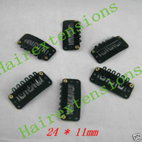 Wholesale 2 cm U Shape Teeth Hair Clips for Clip Hair Extensions Tools Toupees Clips Black