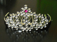 PVC plastic ornament - Plastic Crown Wedding Crown Tiara Hair Ornaments Party tiara Party Toys Dancing dress accessories