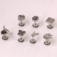 Wholesale New arrived styles l stainless steel Distinctive ear stud ear nail mixing men jewelry