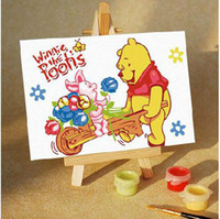 Wholesale Winnie The Pooh Oil Painting By Number DIY Hand painted Digital Oil Painting FFF