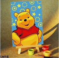 oil paint by numbers - Pooh Oil Painting By Number DIY Hand painted Digital Oil Painting FFF