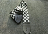 Wholesale Guitar Strap Black and white plaid