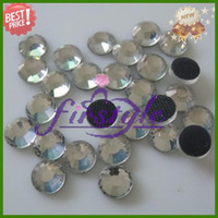 Wholesale SS16 mm DMC stone Hot fix Rhinestone Crystal Clear Color ss flat back rhinestone