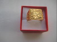 al por mayor oro al por mayor 14k-El GP encantador del oro amarillo de la piedra preciosa 14kt de la piedra preciosa de la joyería de las mujeres de los hombres al por mayor consigue el anillo rico con la caja