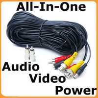 Wholesale 100 feet CCTV Security Camera Audio Video Power Cables with Free RNC RCA Adapter e_Shop2008