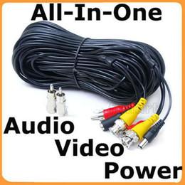Caméra pour la sécurité cctv en Ligne-100 pieds Caméra de sécurité CCTV Câbles Audio Power Video avec RNC gratuit RCA Adapter e_Shop2008
