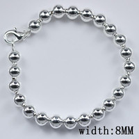 Wholesale new arrive lady gift lover hot sale Sterling Silver fashion hollow mm bead bracelet H124