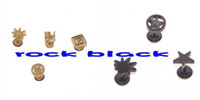 Wholesale Best selling designs ndividual men s stud earring ear plug flesh tunnel body piercing jewelry
