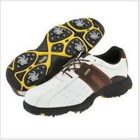 Wholesale Big yards on sale in one hundred crown brand quality leather golf shoe Man
