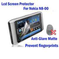 Wholesale Free ship For Nokia N8 N8 Prevent fingerprints LCD Screen Protector with retail package