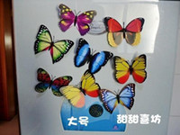 Wholesale 500pcs Simulation of butterfly fridge magnet fridge magnet refrigerator magnets