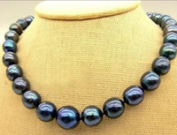 Wholesale 14 MM TAHITIAN BLACK PEARL NECKLACE