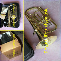 Wholesale Brass Super Bb BARITONE TUBA PISTON HORN freecase
