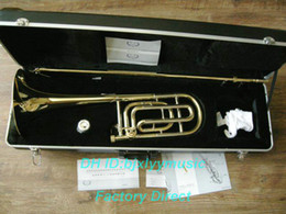 Wholesale Best Selling Advanced Gold Trombone F Bb tone HIgh Musical instruments