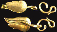 Wholesale 90sets Antiqued gold leaf toggle clasps A1187G