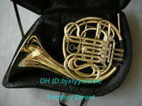 Wholesale Advanced key double French Horn Golden With Case