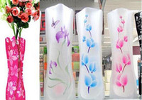 Wholesale Magic Foldable Resuable Collapsible PVC Flexible Vase for Flower Planting Vase flower