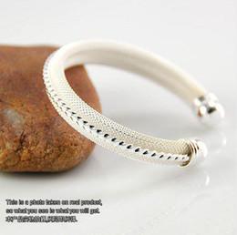Crazy price women lady hot sale 925 Sterling Silver fashion jewelry charm mesh bangle bracelet B21