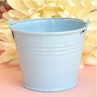 Wholesale Blue MiniTin Pails Candy Boxes Wedding favors sweet package mini pails tin candy box