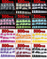 Wholesale Brand new color choice in a bag Acrylic French Half False Nail Art Tips