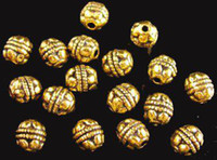 Wholesale 360Pcs Antiqued gold crafted barrel spacer beads A414G