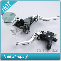 Wholesale 2 Motorcycle Clutch Brake Levers Set with quot Handlebars