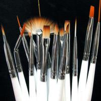 Wholesale 15pcs Nail Art Gel Design Painting Pen Polish Brush Set