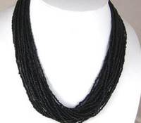 Wholesale Charming black Small coral beads necklace