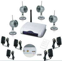 Cheap 2.4G wireless camera kit with PC-computer based DVR receiver & 4 night vision & waterproof camera