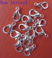 Approx Size: 23mm Quantity: 100pcs  Free shipping 100 pcs lot 23mm plated silver tone metal Lobster Clasps, Jewelry Clasps Findings