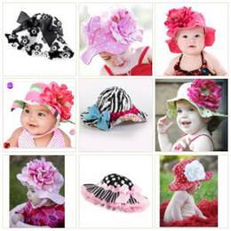 baby caps kids' sun helmet baby hats toddle sunbonnet girls' sunhat girls' headgear 18pcs lot