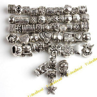 Wholesale 250MIXED DESIGN Charms Beads Tibetan Silver DIY bEADS Fit CHARM Bracelets JOBLOT