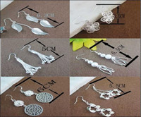 Wholesale E02 New Style silver Fashion Ladies Silver Earrings fit lovely pendant