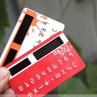 Wholesale ABS plastic new arrival solar card caculator Ultra thin Calculator can be put into the wallet