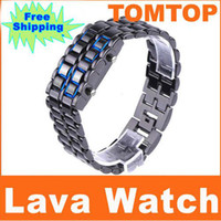Sport led lava watch - Sport Watches Cheap Unique Digita l Lava Style Minimalist Blue LED Faceless Iron Samurai Watch H1842B