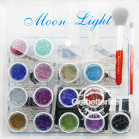 Wholesale Professionla Glitter Tattoo Kit Color with Brushes Glue Stencil Supply PH K002 Starter Tattoo kit