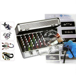 Wholesale Temporary Tattoo glitter tattoo kit Body Art Deluxe tattoo Sets color supply UK warehouse PH K006