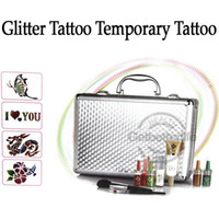 brand new glitter tattoo kit - glitter tattoo kit Body Art Deluxe tattoo Kit color sets supply PH K006
