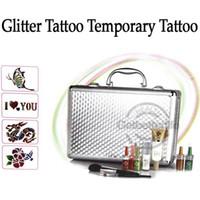 brand new airbrush tattoo - glitter tattoo kit Body Art Deluxe tattoo Kit color sets supply PH K006