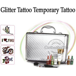 Wholesale glitter tattoo kit Body Art Deluxe tattoo Kit color sets supply PH K006