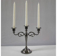 Wholesale 5Pcs Metal Candle Holder Classic European Style Three Candelabra Black FFF
