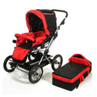 Wholesale Baby strollers Aluminum Stroller A Trend Travel System Expedition Red Luxury Wheels