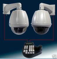 Outdoor CCD  2xCCTV PTZ 27x Zoom D N Dome Camera &1x controller kit Controller Keyboard 1pc e_shop2008