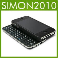 Wholesale BLUETOOTH SLIDING KEYBOARD Wireless amp HARDSHELL CASE FOR IPHONE G th Built in Li ion battery