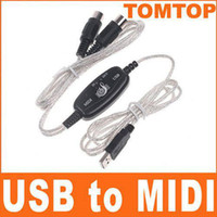 Wholesale Brand New USB MIDI Cable Converter PC to Music Keyboard Adapter built in driver C929