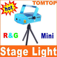Wholesale Mini Red And Green Moving Party Laser Stage Light Projector AC V Open herding H4353